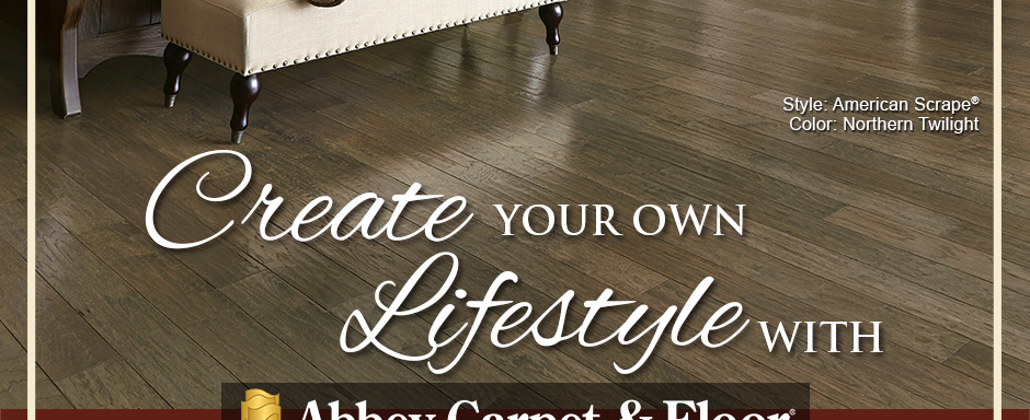 Create Your Own Lifestyle with Abbey Carpet & Floor. Armstrong Flooring Style: American Scrape® | Color: Northern Twilight